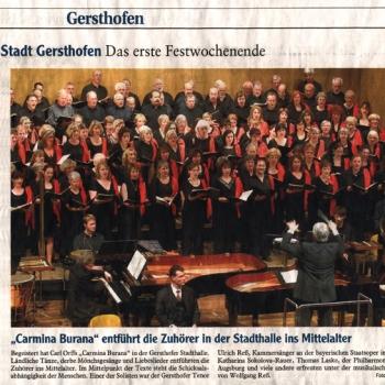 Bericht Carmina Gersthofen