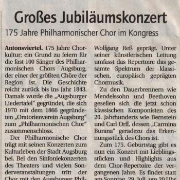 Ankündigung Stadtzeitung