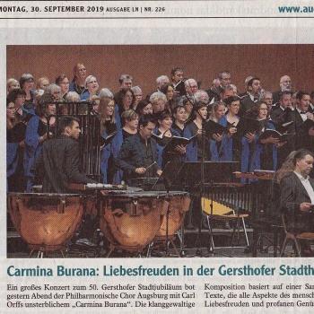 Bericht Carmina Burana