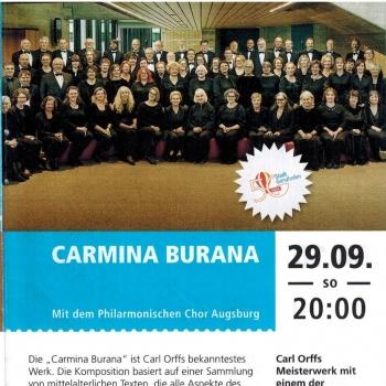 Vorankündigung Carmina